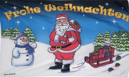 Flagge Fahne Frohe Weihnachten II 90 x 150 cm - Vorschau