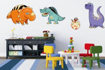 Wandtattoo Funny Dino-Set - Vorschau 1