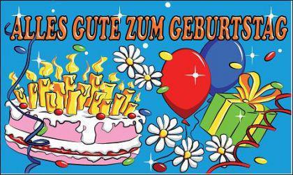 Flagge Fahne Geburtstag II 90 x 150 cm - Vorschau