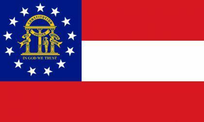 Flagge Fahne Georgia seit 2003 90 x 150 cm - Vorschau
