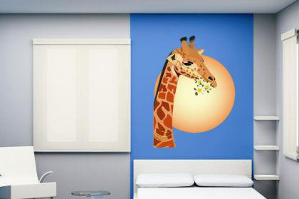 Wandtattoo Giraffe mit Sonne