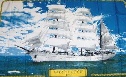 Flagge Fahne Gorch Fock 90 x 150 cm - Vorschau