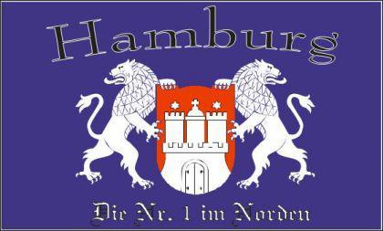 Flagge Fahne Hamburg Nr. 1 90 x 150 cm