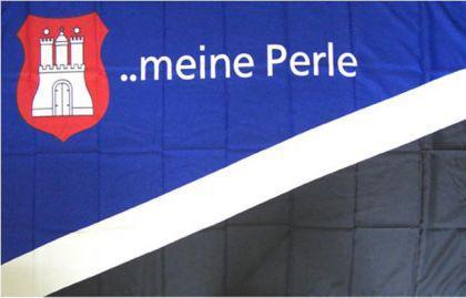 Flagge Fahne Hamburg meine Perle 90 x 150 cm