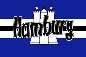 Flagge Fahne Hamburg blau 90 x 150 cm - Vorschau