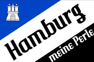 Flagge Fahne Hamburg meine Perle II 90 x 150 cm - Vorschau
