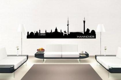 Wandtattoo Hannover Skyline