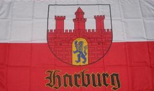 Flagge Fahne Hamburg Harburg alt 90 x 150 cm - Vorschau