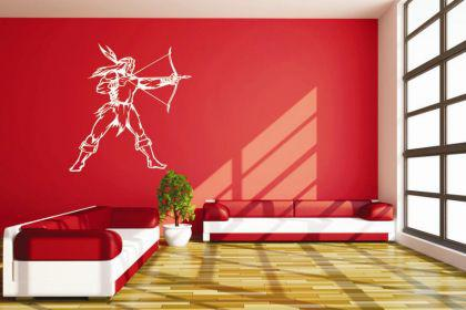 wandtattoo indianer motiv nr 3 kaufen bei. Black Bedroom Furniture Sets. Home Design Ideas