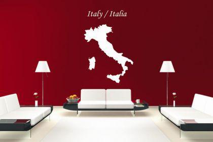 Wandtattoo Italien Karte