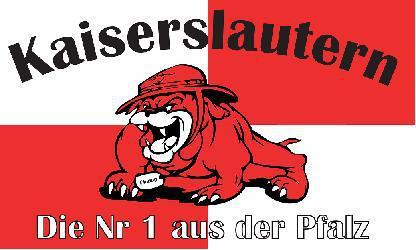 Flagge Fahne Kaiserslautern Bulldogge 90 x 150 cm