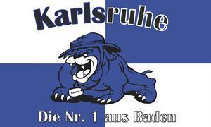 Flagge Fahne Karlsruhe Bulldogge 90 x 150 cm