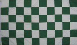 Flagge Fahne Karoflagge grün weiß 90 x 150 cm - Vorschau