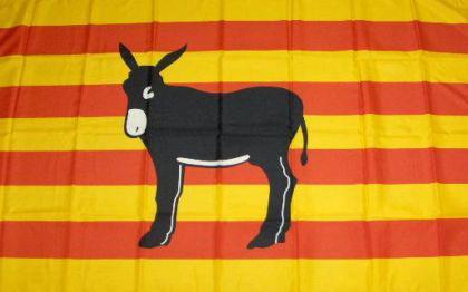 Flagge Fahne Katalonien Esel 90 x 150 cm - Vorschau