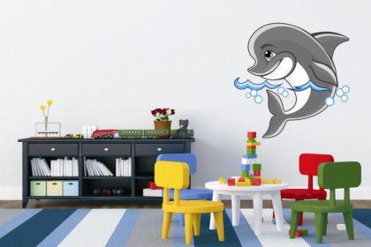 Wandtattoo Kleiner Delfin