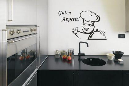 Wandtattoo Koch - Guten Appetit