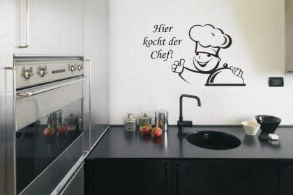 Wandtattoo Koch - Hier kocht der Chef!
