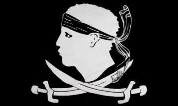 Flagge Fahne Pirat Korsika 90 x 150 cm