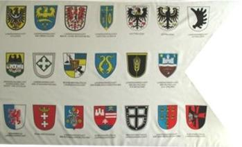 Flagge Fahne Landmannschaft 20 Wappen 90 x 150 cm