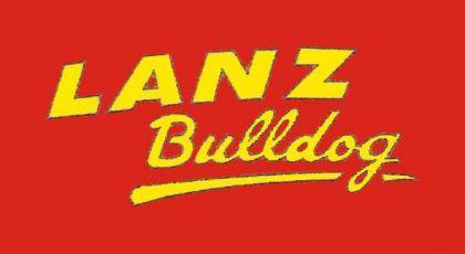 Flagge Fahne Lanz Bulldog Schriftzug 90 x 150 cm