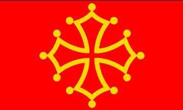 Flagge Fahne Midi-Pyrénées 90 x 150 cm - Vorschau