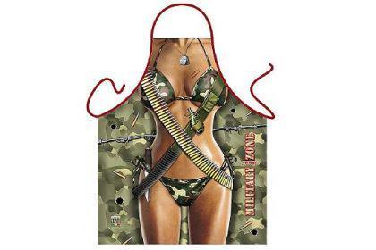 Schürze Military Frau 56 x 73 cm - Vorschau