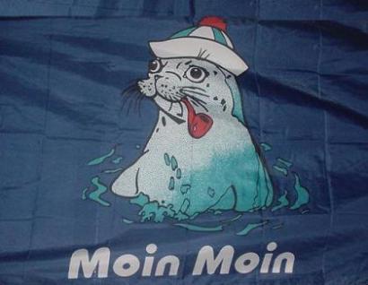 Flagge Fahne Moin Seehund 90 x 150 cm - Vorschau