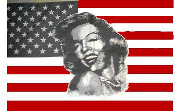 Flagge Fahne USA Marilyn Monroe 90 x 150 cm - Vorschau