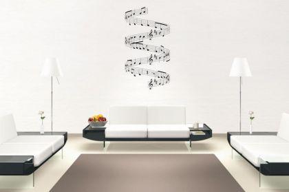 Wandtatttoo Musiknoten Motiv Nr. 6
