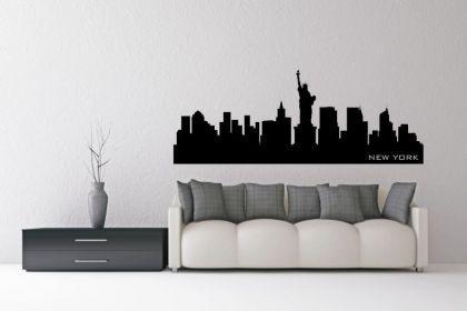 wandtattoo new york skyline kaufen bei. Black Bedroom Furniture Sets. Home Design Ideas