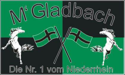 Flagge Fahne Mönchengladbach Nr. 1 90 x 150 cm