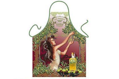 Schürze Olivenernte 56 x 73 cm