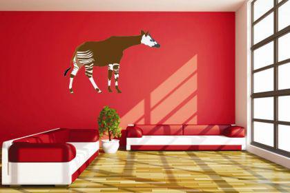 Wandtattoo Okapi Color