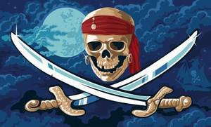 Flagge Fahne Pirat Fluch der Meere 90 x 150 cm