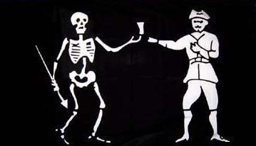 Flagge Fahne Pirat Jolly Roger 90 x 150 cm