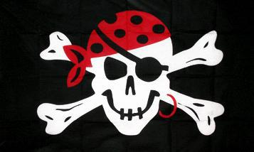 Flagge Fahne Pirat mit Ohrring 90 x 150 cm