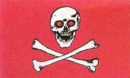 Flagge Fahne Pirat rote Augen rot 90 x 150 cm - Vorschau