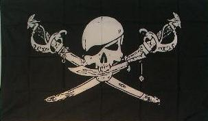 Flagge Fahne Pirat Säbeln Augenklappe 90 x 150 cm