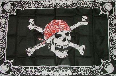 Flagge Fahne Pirat with Triming 90 x 150 cm