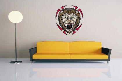 Wandtattoo Predator Lion Motiv Nr. 2