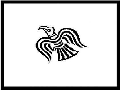 Flagge Fahne Raven Wikinger 90 x 150 cm - Vorschau