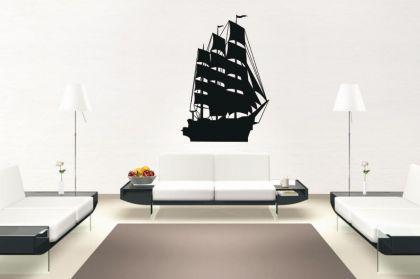 Wandtattoo Segelschiff Motiv Nr. 1