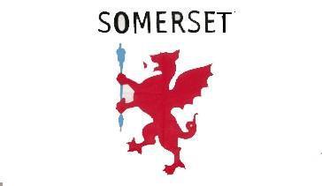 Flagge Fahne Somerset 90 x 150 cm - Vorschau