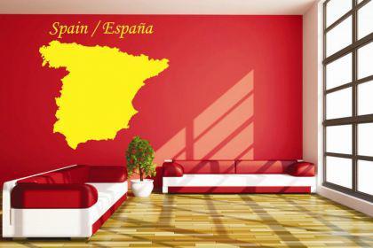 Wandtattoo Spanien Karte