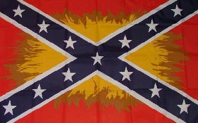 Flagge Fahne Südstaaten Flamme 90 x 150 cm - Vorschau