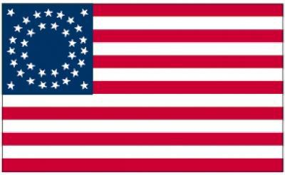 Flagge Fahne USA 35 Sterne 90 x 150 cm - Vorschau