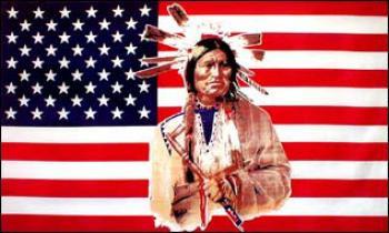 Flagge Fahne USA Indianer 90 x 150 cm - Vorschau
