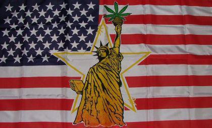 Flagge Fahne USA Liberty Mariuhana 90 x 150 cm - Vorschau