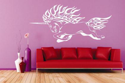 Wandtattoo Unicorn flame Motiv Nr. 1