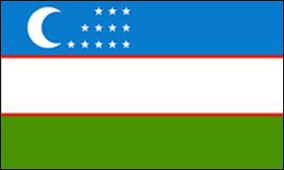 Flagge Fahne Usbekistan 90 x 150 cm - Vorschau